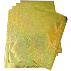 Feuille A4 - 5 FEUILLES HOLOGRAMME OR